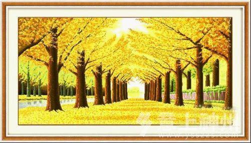 挂置满地黄金图,喻意富贵满堂